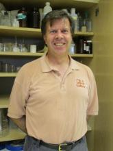 Dr. Bruce Downie in the lab.