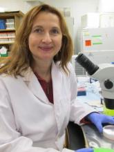 Dr. Olga Tysusko in her research lab.