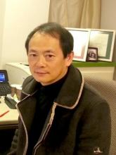 Dr. Ling Yuan in his office.