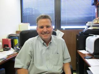 Dr. James Matthews in his office.