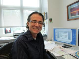 Dr. Matthew Gentry in his office.