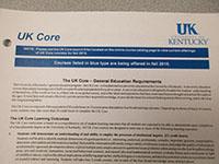 UK Core heading from bulletin