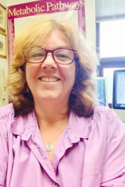 Dr. Lisa Vaillancourt in her office.