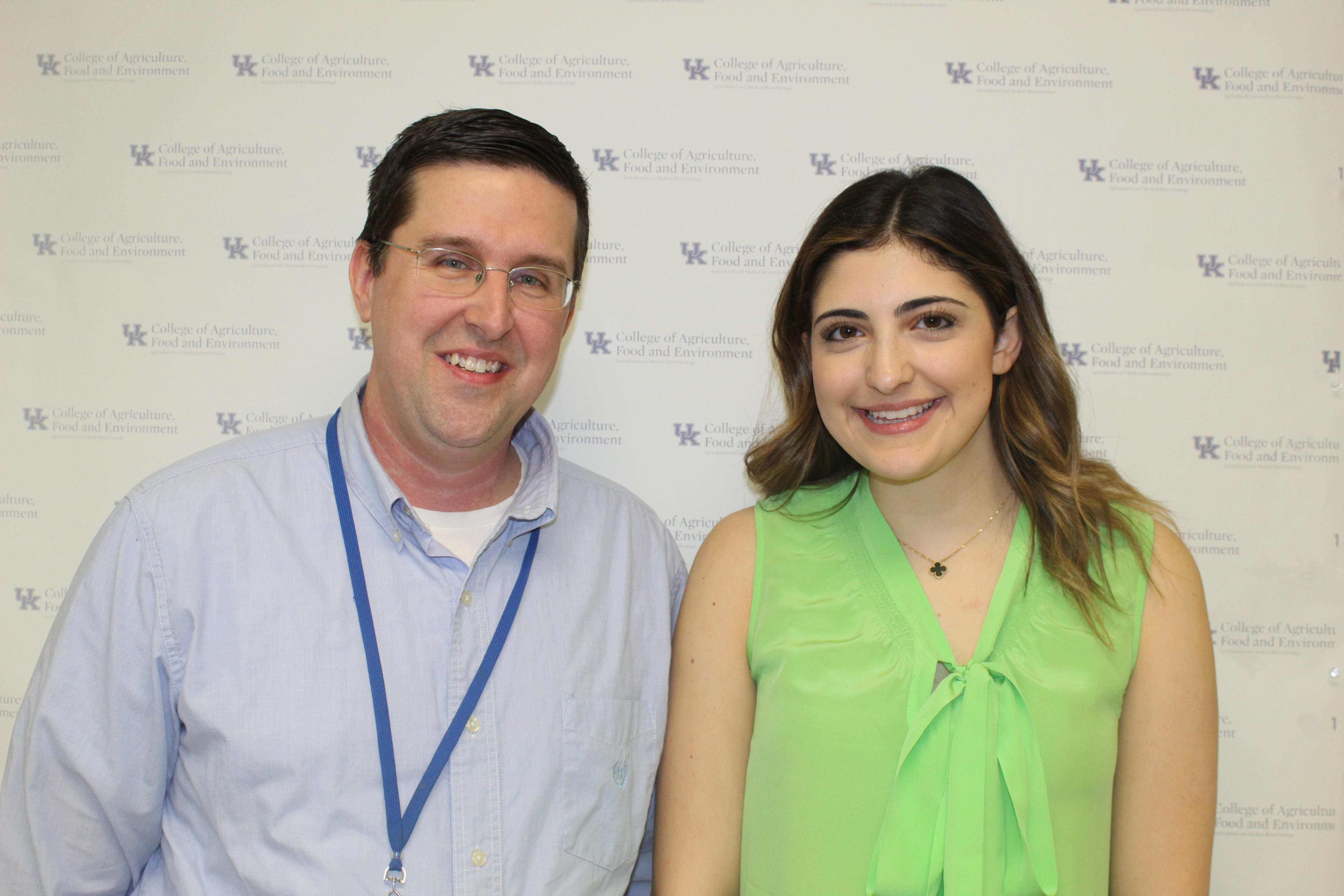 Nicole Bacha and her research mentor, Dr. Sean Thatcher
