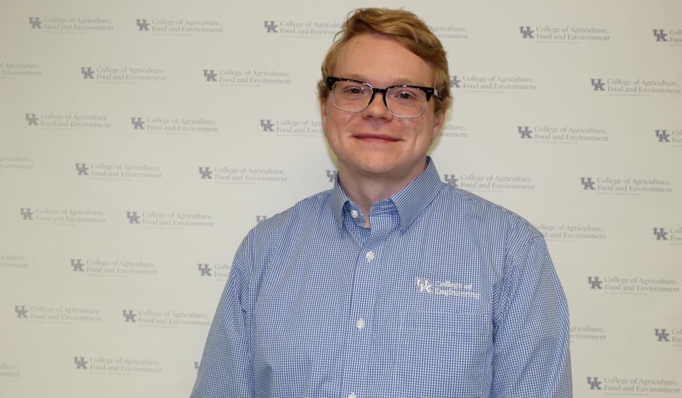 Brandon Goble, recipient of this semester's Glenn B. Collins Award