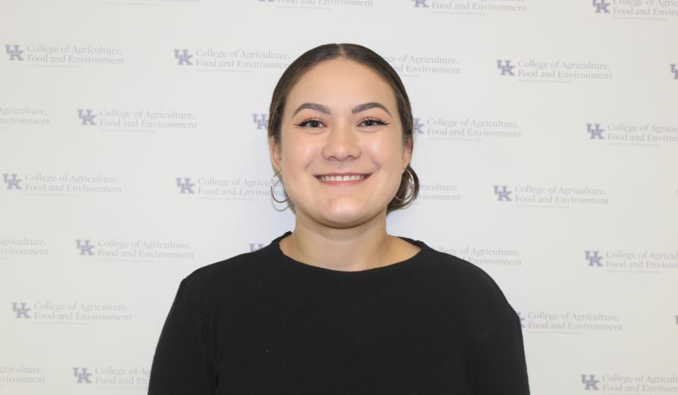 Samantha De Jesus, recipient of this semester's Glenn B. Collins Award